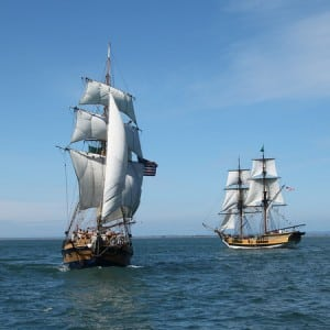Lady Washington and Hawaiian Chieftain
