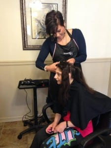 As a hair stylist, Lyndsey loves getting to know her clients and helping them accomplish things like giving to Locks of Love.
