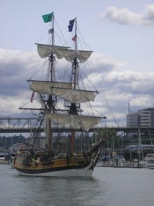 "According to ""A Haunted Tour Guide to the Pacific Northwest"" by Jefferson Davis, spirits are attracted to the tall ship when it sails into old ports."