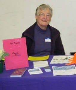 Retired teacher and librarian Mary Lou Gregory is a core member of the Harbor Arts Guild. Photo courtesy of Harbor Art Guild.