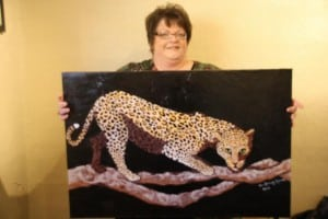 Talented local artist Tina Karvonen has shown many of her creative works through the Harbor Art Guild's exhibits and shows. Photo courtesy of Harbor Art Guild.