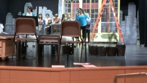 The cast of Annie during a recent rehearsal.