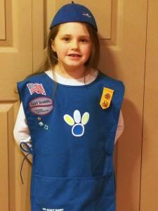 Scout Kaelanhi McCann sports her Daisy  uniform.