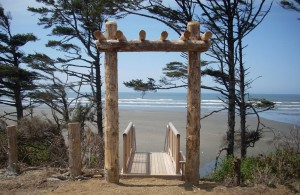Beach entrance at Seabrook.