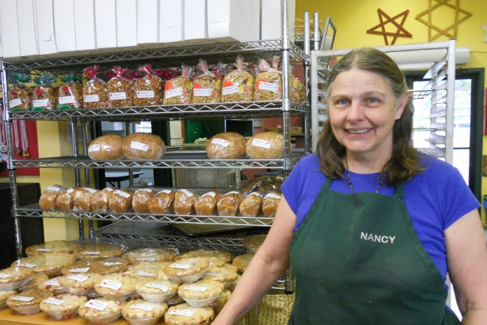 Baker Nancy Lachel displays her baked goods at the Grays Harbor Farmers Market.
