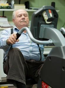 Cardiac rehab bikes at Grays Harbor Community Hospital help patients regain heart strength.