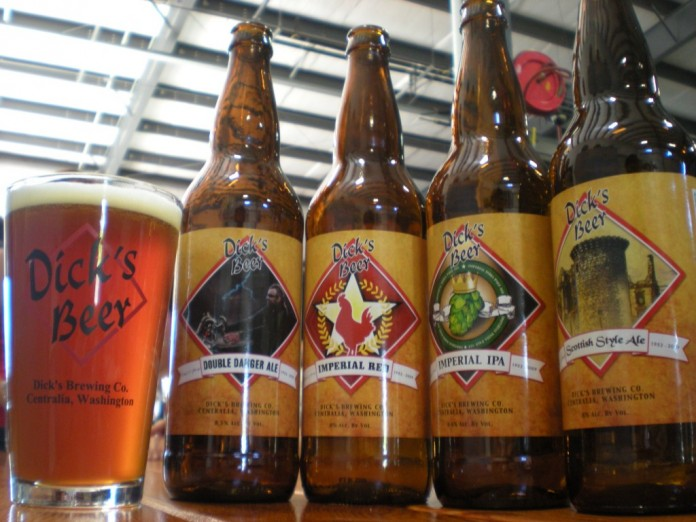 Dick's Brewing beer assortment.