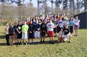 North Beach Jr. Sr. High School's turnout for track this season broke the record with 55 student athletes turning out for the sport.