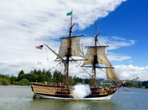The Lady Washington Firing a Canon. Image by Doug Scott.