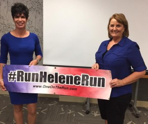 When she's not running, Helene Neville can be found inspiring others at events across the country. Join her in Grays Harbor at Aberdeen High School on September 2. Photo courtesy of One On the Run.