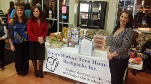 grays harbor teen homeless backpack
