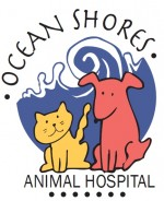 Ocean shores animal hospital logo