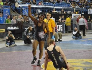 A three-sport athlete, Johnson finished third in the 170-pound division at the 1A state wrestling tournament last year. Photo credit:Grant Clark.