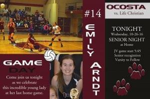 Ocosta Volleyball Emily Arndt