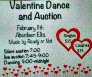 Valentine's Dance & Auction @ Aberdeen Elks  | Aberdeen | Washington | United States