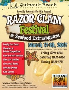 Oceans Shores 11th Annual Razor Clam Festival @ Ocean Shores Convention Center | Ocean Shores | Washington | United States