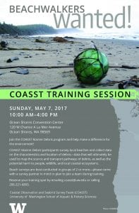 COASST Marine Debris Training Session @ Ocean Shore Convention Center | Ocean Shores | Washington | United States