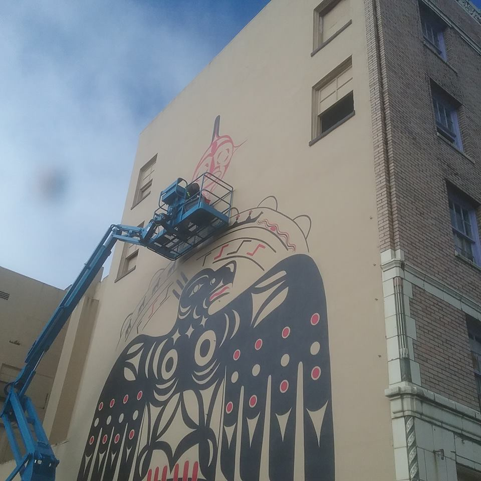 Grays Harbor Art Morck Hotel Mural