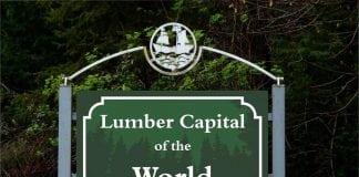 Grays Harbor Logging History Sign