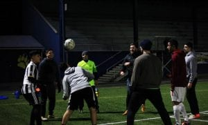 Grays Harbor Gulls FC Soccer Team Circle Practicing