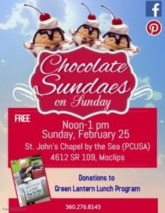 Chocolate Sundaes on Sunday @ St. John's Chapel by the Sea (PCUSA)  | Moclips | Washington | United States