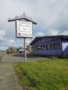 Chinese Village Restaurant Aberdeen Sign
