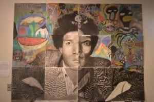 Grays Harbor College Nathan Barnes artwork in hall