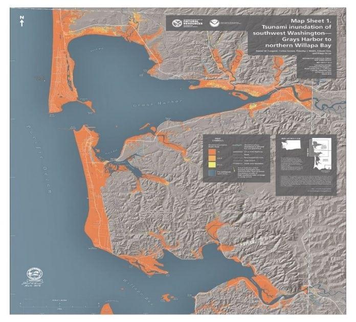 Southwest Washington Tsunami Inundation Hazard Map