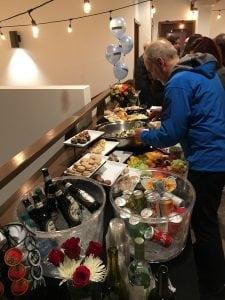 Barene DenAdel Aberdeen Open House Events hors d'oeuvres,