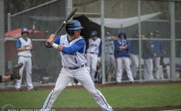 Grays Harbor College Baseball Baseball Rhoden at bat