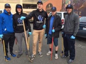 Grays Harbor College Baseball Community Service Project