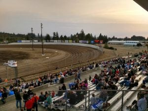 Grays Harbor Raceway Fans in the Grandstands at Grays Harbor Raceway