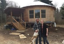 Jared and Audrey Neibaur Homesteading Grays Harbor County Yurt