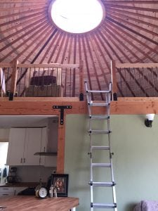Jared and Audrey Neibaur Homesteading Grays Harbor County- skylight