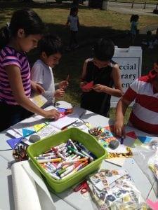 Children Doing an Art Project