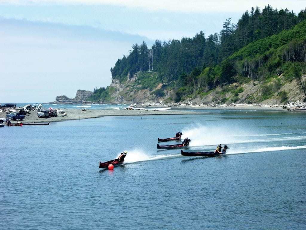 Grays Harbor 4th of July chief taholah days canoe race