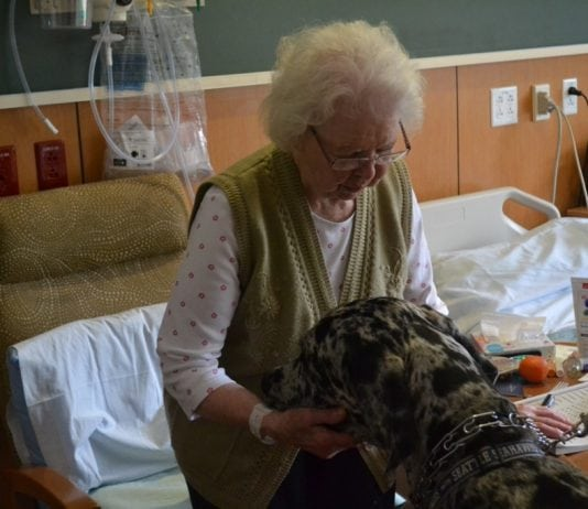 Vince greeting a patient at Summit Pacific