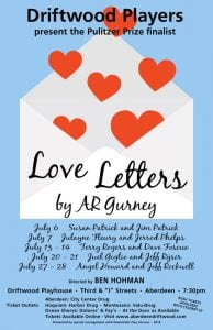 "Driftwood Theater presents ""Love Letters"" by A.R. Gurney @ Driftwood Theater 