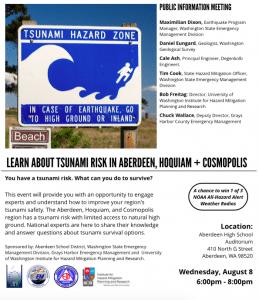 Tsunami Survival Options @ Aberdeen High School Auditorium | Aberdeen | Washington | United States