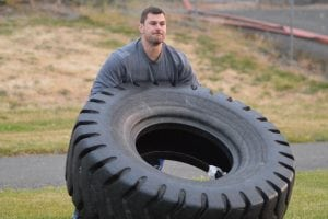 Chris Henry Tire Flip