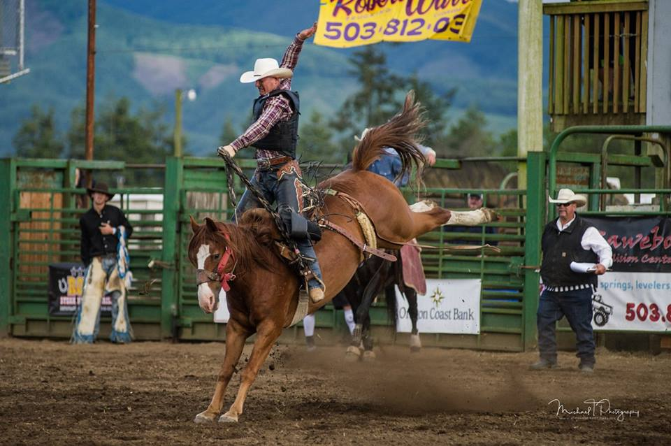 Grays Harbor clash of the cowboys man on horse