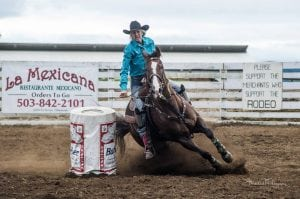 Grays Harbor clash of the cowboys woman on horse