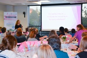 Summit Pacific Dr Nicole Taylor Speaking about Natural Hormone Replacements at Ladies Night Out