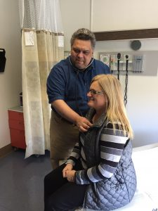 Grays Harbor Community Hospital Nurse Practitioners Ron with Patient