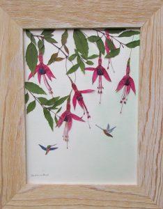 Mariko Maita Fuchia With Humming Birds