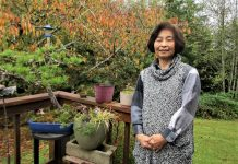 Mariko Maita With Bonsai