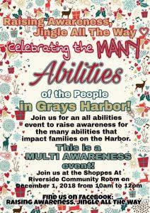 Raising Awareness, Jingle All the Way @ Shoppes at Riverside | Aberdeen | Washington | United States