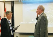 Port of Grays Habror Tom Quigg swearing in