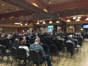 Quinault Beach Resort and Casino ufo summit room full of people
