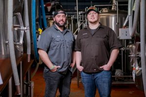 City of Aberdeen Brewing Mount Olympus Brewery Owners Posing